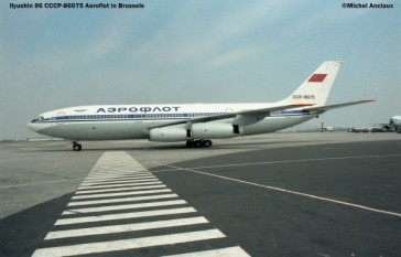img189 Ilyushin 86 CCCP-86075 Aeroflot © Michel Anciaux