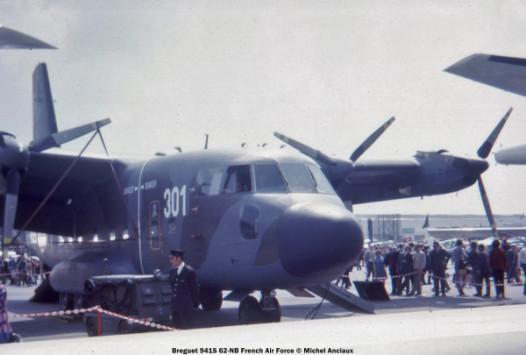 img499 Breguet-941S 62-NB French Air Force © Michel Anciaux