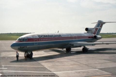 img929 Boeing 727-2J1 Adv HI-242 Dominicana de Aviación © Michel Anciaux