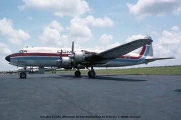 img957 Douglas C-118A Liftmaster HI-292 Dominicana de Aviación © Michel Anciaux