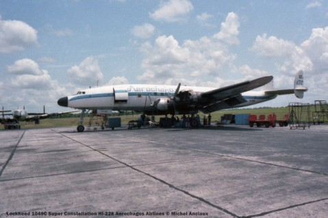 img963 Lockheed 1049C Super Constellation HI-228 Aerochagos Airlines © Michel Anciaux