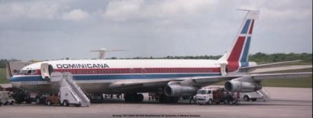 img974 Boeing 707-399C HI-442 Dominicana de Aviación © Michel Anciaux