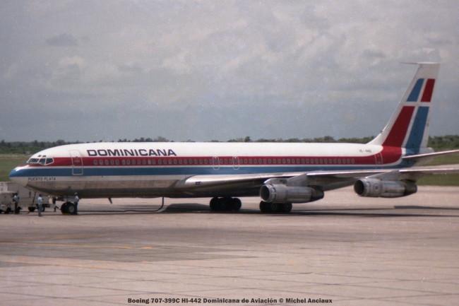 img975 Boeing 707-399C HI-442 Dominicana de Aviación © Michel Anciaux
