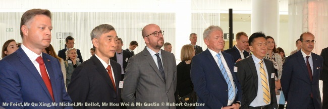 Mr Feist,Mr Qu Xing,Mr Michel,Mr Bellot, Mr Hou Wei & Mr Gustin © Hubert Creutzer