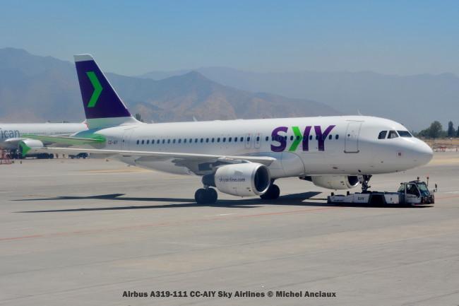 DSC_0098 Airbus A319-111 CC-AIY Sky Airlines © Michel Anciaux