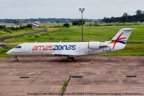 DSC_0340 Canadair CL-600-2B19 Regional Jet CRJ-200ER C-FWKU Amaszonas Paraguay © Michel Anciaux