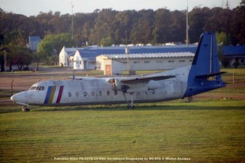 img911 Fairchild Hiller FH-227B CX-BQU Aerolineas Uruguayas ex OO-DTA © Michel Anciaux