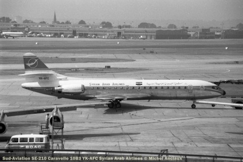 0004 Sud-Aviation SE-210 Caravelle 10B3 YK-AFC Syrian Arab Airlines © Michel Anciaux