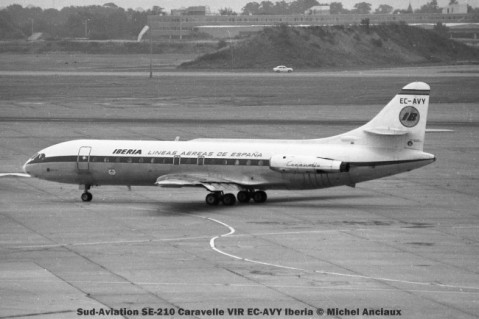 002 Sud-Aviation SE-210 Caravelle VIR EC-AVY Iberia © Michel AnciauX