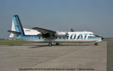 007 Fairchild Hiller FH-227B OO-DTE DAT-Delta Air Transport © Michel Anciaux