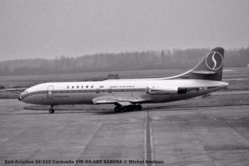 008 Sud-Aviation SE-210 Caravelle VIN OO-SRE SABENA © Michel Anciaux