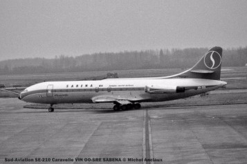 008 Sud-Aviation SE-210 Caravelle VIN OO-SRE SABENA © Michel Anciaux