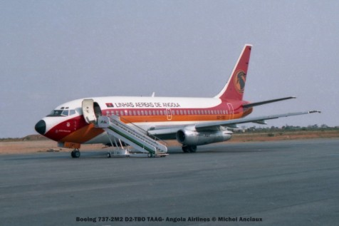 009 Boeing 737-2M2 D2-TBO TAAG- Angola Airlines © Michel Anciaux