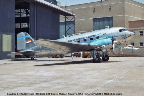 01 Douglas C-47A Skytrain (DC-3) ZS-BXF South African Airways (SAA Historic Flight) © Michel Anciaux