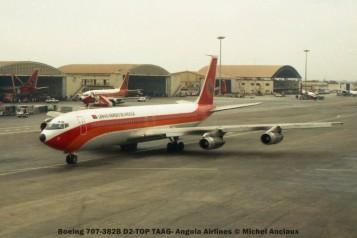 010 Boeing 707-382B D2-TOP TAAG- Angola Airlines © Michel Anciaux