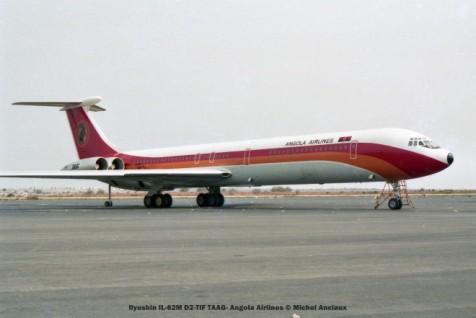 014 Ilyushin IL-62M D2-TIF TAAG- Angola Airlines © Michel Anciaux