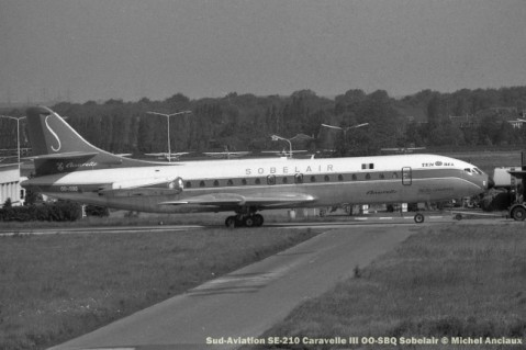 014 Sud-Aviation SE-210 Caravelle III OO-SBQ Sobelair © Michel Anciaux