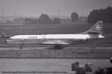014 Sud-Aviation SE-210 Caravelle VIR LX-LGF Luxair © Michel Anciaux