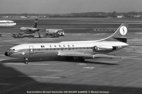 015 Sud-Aviation SE-210 Caravelle VIN OO-SRF SABENA © Michel Anciaux