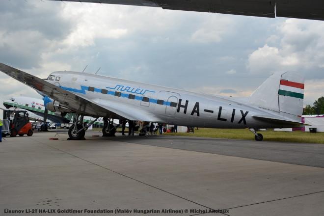 018 Lisunov Li-2T HA-LIX Goldtimer Foundation (Malév Hungarian Airlines) © Michel Anciaux