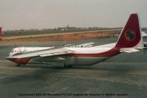 019 Lockheed L100-30 Hercules PJ-TAC Angola Air Charter © Michel Anciaux