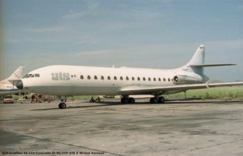 022 Sud-Aviation SE-210 Caravelle III 9Q-CCP ATS © Michel Anciaux