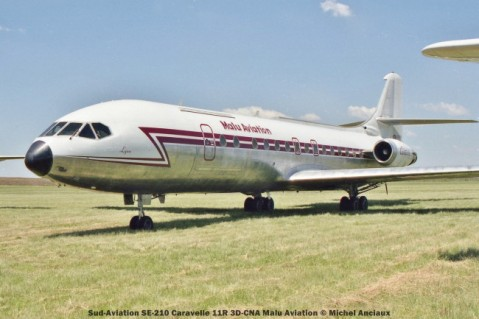 028 Sud-Aviation SE-210 Caravelle 11R 3D-CNA Malu Aviation © Michel Anciaux