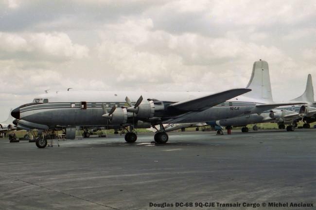 03 Douglas DC-6B 9Q-CJE Transair Cargo © Michel Anciaux
