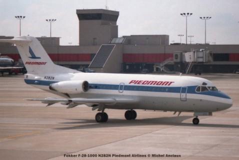 03 Fokker F-28-1000 N282N Piedmont Airlines © Michel Anciaux