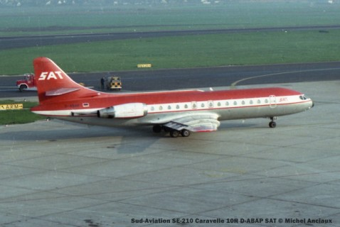 030 Sud-Aviation SE-210 Caravelle 10R D-ABAP SAT © Michel Anciaux