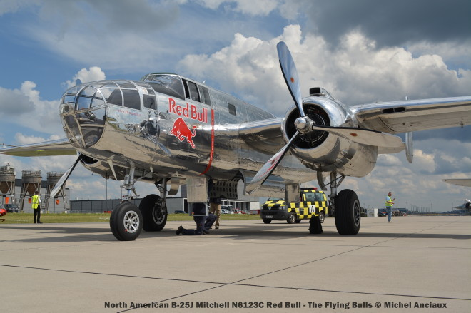 037 North American B-25J Mitchell N6123C Red Bull - The Flying Bulls © Michel Anciaux