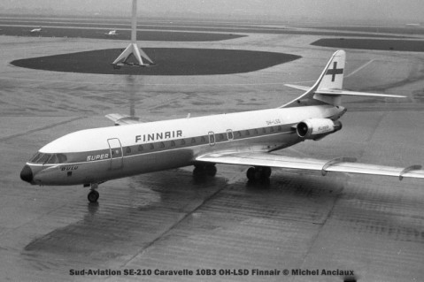 037 Sud-Aviation SE-210 Caravelle 10B3 OH-LSD Finnair © Michel Anciaux