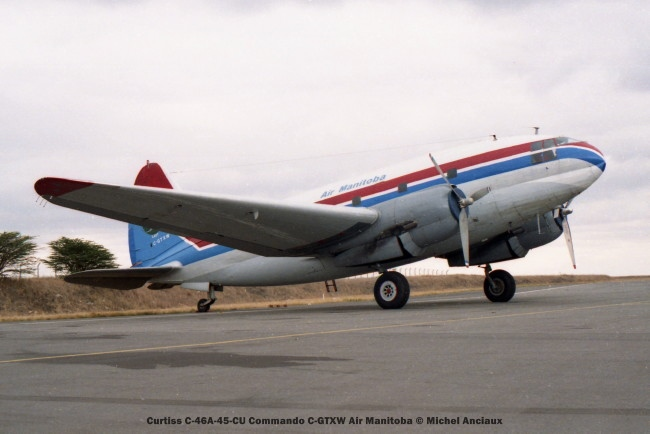 038 Curtiss C-46A-45-CU Commando C-GTXW Air Manitoba © mICHEL aNCIAUX