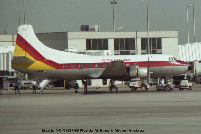04 Martin 4-0-4 N144S Florida Airlines © Michel Anciaux