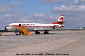 043 Sud-Aviation SE-210 Caravelle 10B3 OY-STH Sterling © Michel Anciaux