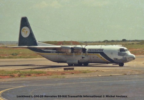 044 Lockheed L-100-20 Hercules S9-NAI Transafrik International © Michel Anciaux