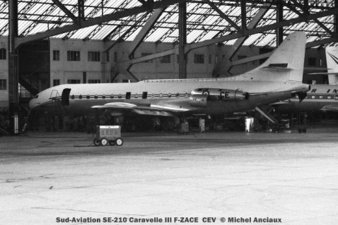 049 Sud-Aviation SE-210 Caravelle III F-ZACE CEC © Michel Anciaux