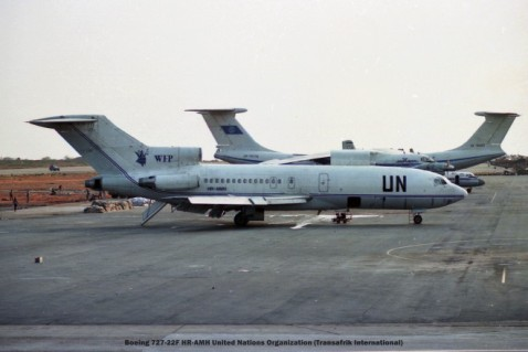 052 Boeing 727-22F HR-AMH United Nations Organization (Transafrik International)
