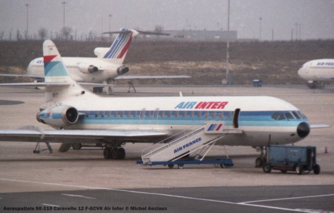 075 Aerospatiale SE-210 Caravelle 12 F-GCVK Air Inter © Michel Anciaux