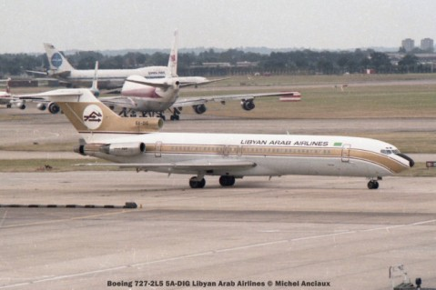 11 Boeing 727-2L5 5A-DIG Libyan Arab Airlines
