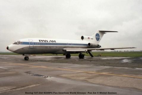126 Boeing 727-21C N339PA Pan American World Airways - Pan Am © Michel Anciaux