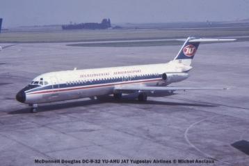 15 McDonnell Douglas DC-9-32 YU-AHU JAT Yugoslav Airlines © Michel Anciaux