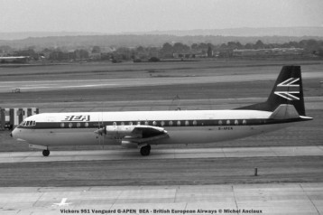 179 Vickers 951 Vanguard G-APEN BEA - British European Airways © Michel Anciaux