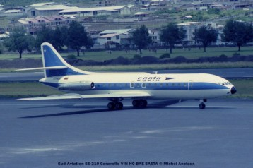 18 Sud-Aviation SE-210 Caravelle VIN HC-BAE SAETA © Michel Anciaux