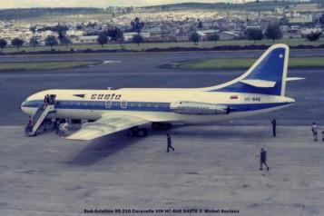 19 Sud-Aviation SE-210 Caravelle VIN HC-BAE SAETA © Michel Anciaux