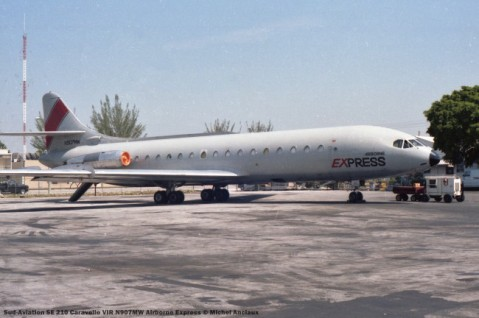 22 Sud-Aviation SE 210 Caravelle VIR N907MW Airborne Express © Michel Anciaux