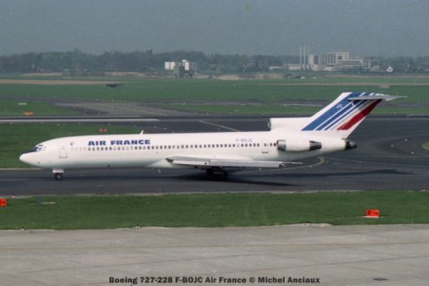 25 Boeing 727-228 F-BOJC Air France © Michel Anciaux