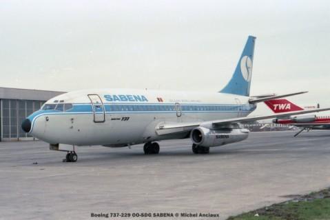 35 Boeing 737-229 OO-SDG SABENA © Michel Anciaux