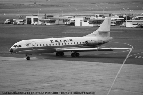 img155 Sud-Aviation SE-210 Caravelle VIR F-BUFF Catair © Michel Anciaux