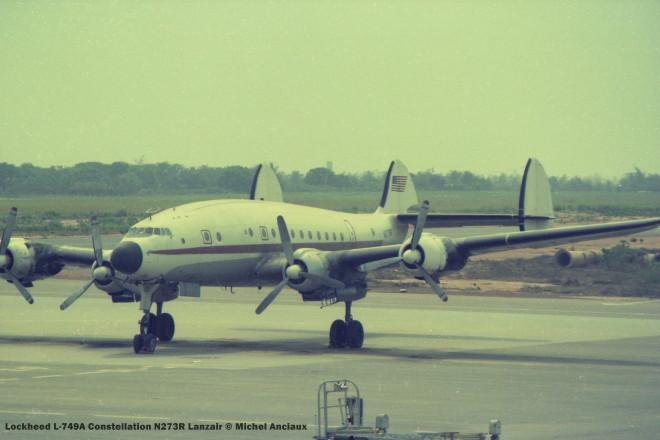 img547 Lockheed L-749A Constellation N273R Lanzair © Michel Anciaux